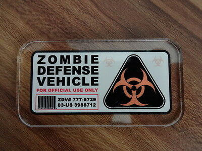 Zombie Defense Vehicle  Scheiben Sticker