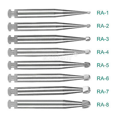 5pcs/kit Dental Tungsten Steel Carbide Bur Fit Low Speed Contra Angle Handpiece