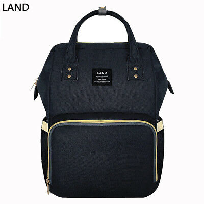 US LAND Mummy Diaper Bags Multifunctional Large Backpack Changing Bag Baby Nappy