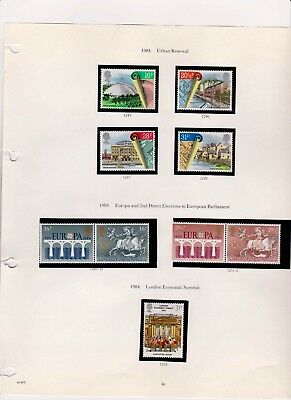 1984 3 Sets (See Scans) Urban Renewal, Direct Elections, Economic Summit. Mint