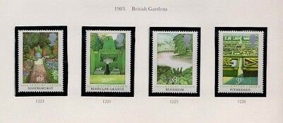 1983 British Gardens - Mint Singles And  Fdc