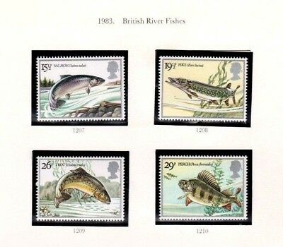 1983 British River Fishes - Mint Singles And  Fdc