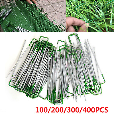 Lawn Anchor U Pins Tent Pegs Weed Mat Fastening Turf Pins Grass Synthetic Shape
