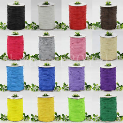 10Yards 1mm Waxed Cotton Cord Beading Rattail Braided DIY String Thread