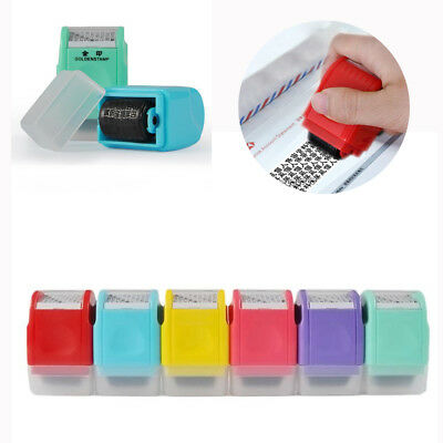 Plastic Self Inking Privacy ID Protect Security Stamp Erase Roller Hide Identity