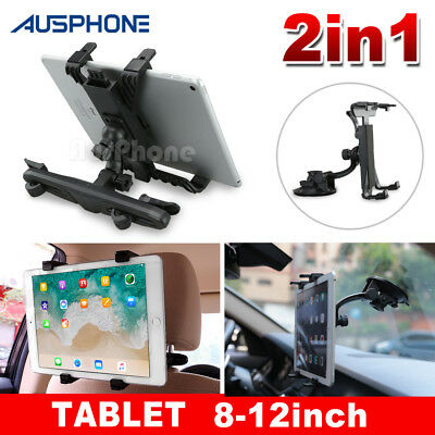 Universal 360° Car Mount Seat Headrest Holder For Apple iPad Samsung Tablet 8-12