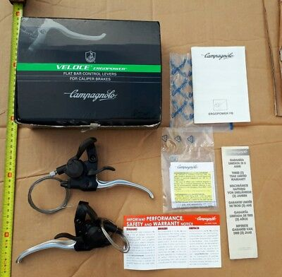 Campagnolo - Veloce Ergopower Flat Bar Control Levers For Caliper Brakes  Box