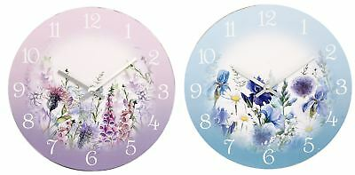 30cm Meadow Floral Round Decorative Wall Clock