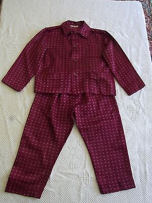 Pajamas Child Boy Baby Vog T6ans Vintage 60 BOY'S Pajamas Siz 6yrs Pj Nino