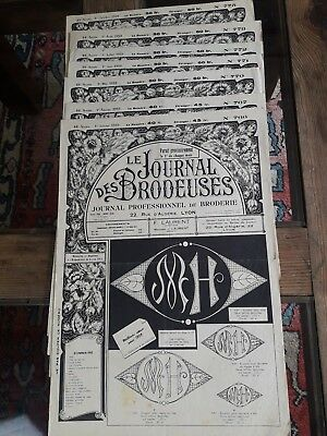 7 Alt Zeitungshalter Le Journal des Brodeuses 1959 Vintage Stickerei Patterns
