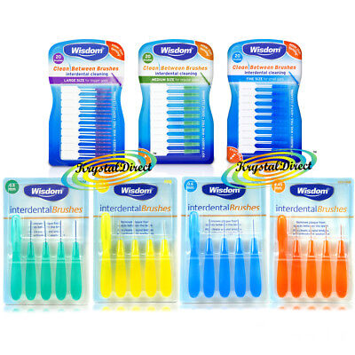 Wisdom Clean Between Interdental Brushes - Rubber or Wire Brush