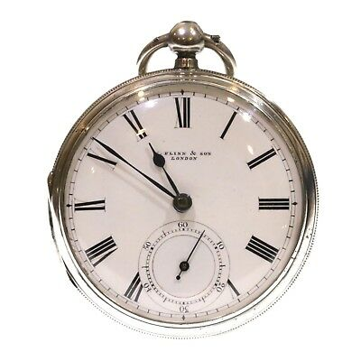 1902 Antique Pocket Watch Silver Fusee Lever. Serviced