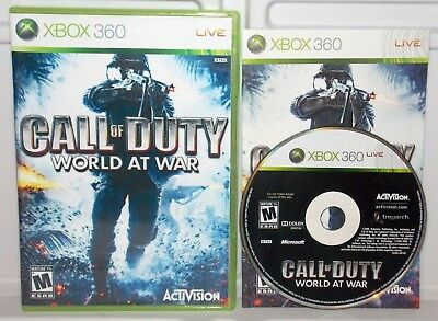 Call of Duty: World at War (Microsoft Xbox 360, 2008) COD 5 ~ Complete Game ~