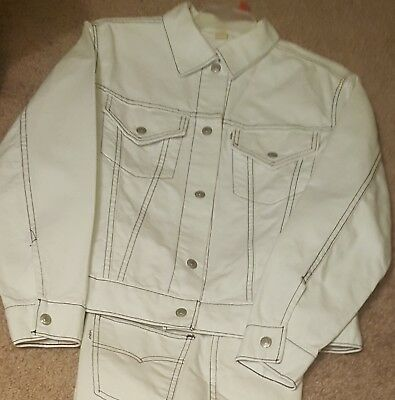📌📌 HTF XC Vtg LEvi's BIG E 70'S WOMEN'S JEANS SUIT TRUCKER JACKET 30X28 40""