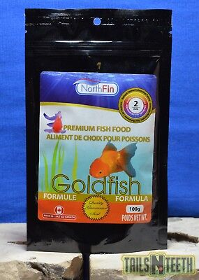 NorthFin Goldfish - 2mm Pellet 100g - Premium Fish Food - Made in Canada
