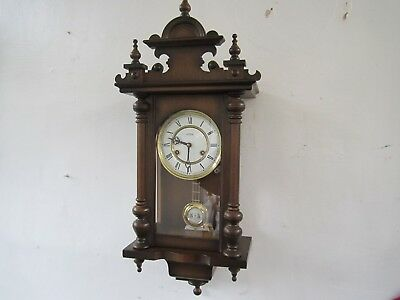 """Vintage """"emes"""" Wall Clock With Hermle Movement In V.g.w.o."""