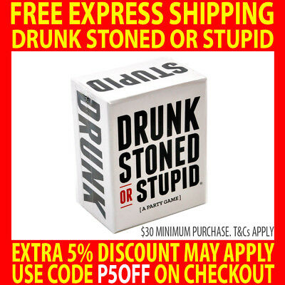 2018 Drunk Stoned Or Stupid - A Party Game - Cards For Adults - Latest Version