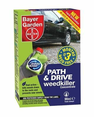 Bayer Garden Path and Drive Weedkiller Concentrate 90ml Dual Action Kill Weeds