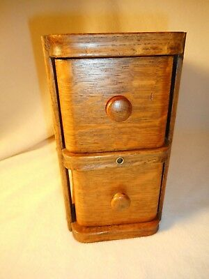 Vintage Singer Sewing Machine Drawers Wood Pair with Original Holder-Very Nice