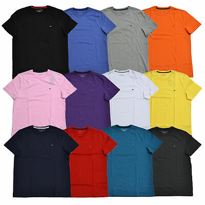 Tommy Hilfiger Lot of 10 Mens T-Shirts Classic Fit Crew Neck Short Sleeve New