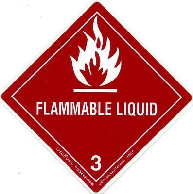 Flammable Liquid (3) / 4 in x 4 in / sticker/decal