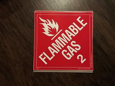 Flammable Gas (2) / 10 1/2 in by 10 1/2 in / sticker/decal