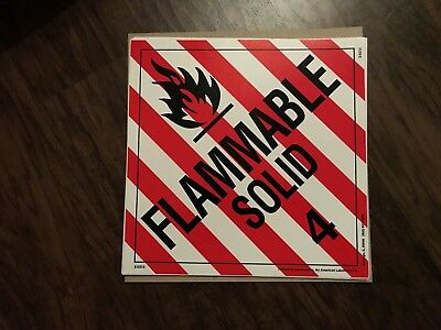 Flammable Solid (4) / 10 1/2 in by 10 1/2 in / sticker/decal