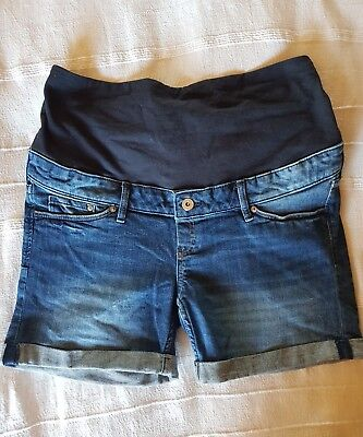 H&M maternity denim shorts UK14