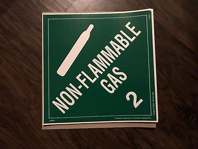 Non-Flammable Gas (2) / 10 1/2 in by 10 1/2 in / sticker/decal