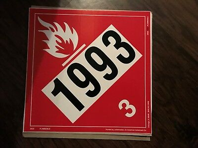 Flammable 1993 (3) / 10 1/2 in by 10 1/2 in / sticker/decal