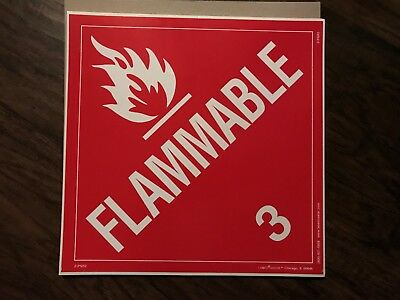 Flammable Liquid (3) / 10 1/2 in by 10 1/2 in / sticker/decal