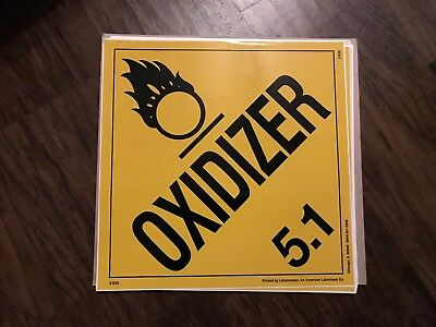 Oxidizer (5.1) / 10 1/2 in by 10 1/2 in / sticker/decal