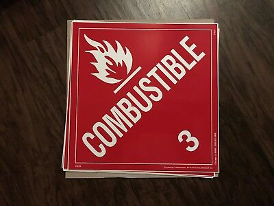 Combustible (3) / 10 1/2 in by 10 1/2 in / sticker/decal