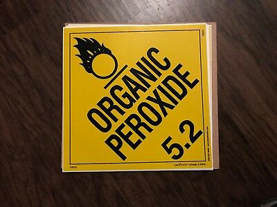 Organic Peroxide (5.2) / 10 1/2 in by 10 1/2 in / sticker/decal