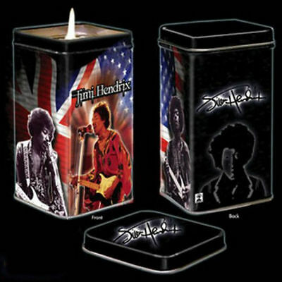 Brand-New - Jimi Hendrix - Candle In Tin - With Great Jimi Pictures- Great Gift