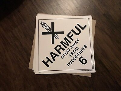 Harmful Stow Away From Foodstuffs (6) / 10 1/2 in by 10 1/2 in / sticker/decal