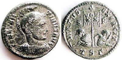 "Constantine I ""the Great""_307 - 337 AD_AE silvered Follis"