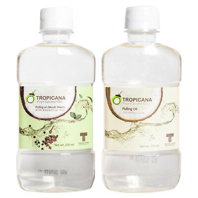 250ml Tropicana Coconut Pulling Oil Mouthwash Natural Mouthwash Oral Mouth Rinse