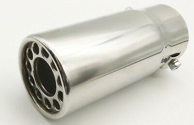 56mm Universal Exhaust Stainless Steel Muffler Tail Pipe Trim Tip Racing 11 Hole