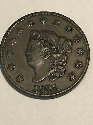 1825 Large Cent Outstanding Detail High Grade Magnificent Coin Wow!!