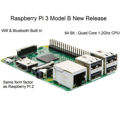 Rasberry Pi 3 Model B Mother Board Wireless Lan 64Bit 1GB RAM 1.2GHz Quad Core