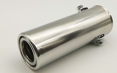 Universal Sport Chrome Exhaust Pipe Tip Muffler Trim Tail Steel