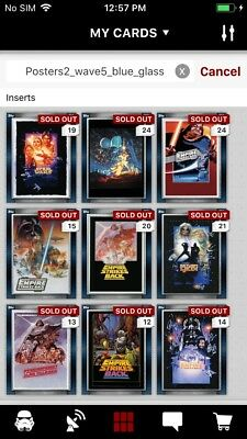 Topps Star Wars Digital Card Trader 10 Card FA Blue The Armory Insert Set
