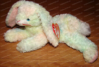 TY BEANIE BABY Cottonball Tie-Dyed Soft Pastels Bunny MINT Brand New ... 8e64794b0de0