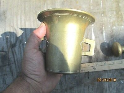 Brass Mortar And Pestle - #2