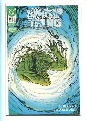 Swamp Thing #74 Nm 9.6 1988 Extraordinary Cover Alcala Art