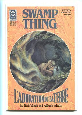 Swamp Thing #76 Nm 9.6 1988 Gorgeous And Passionate Cover