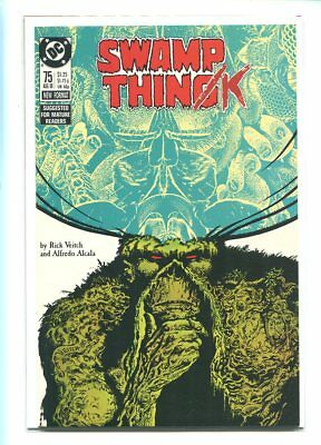 Swamp Thing #75 Nm 9.6 1988 Rodins Thinker Pose Cover