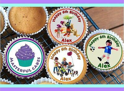 24x PRECUT PERSONALISED BABY SCAN//CHRISTENING//NAMING DAY//RICE CUP CAKE TOPPERS