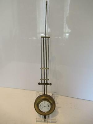 Antique Vienna Regulator Wall Clock Brass Grid Pendulum - Parts Spares Repairs